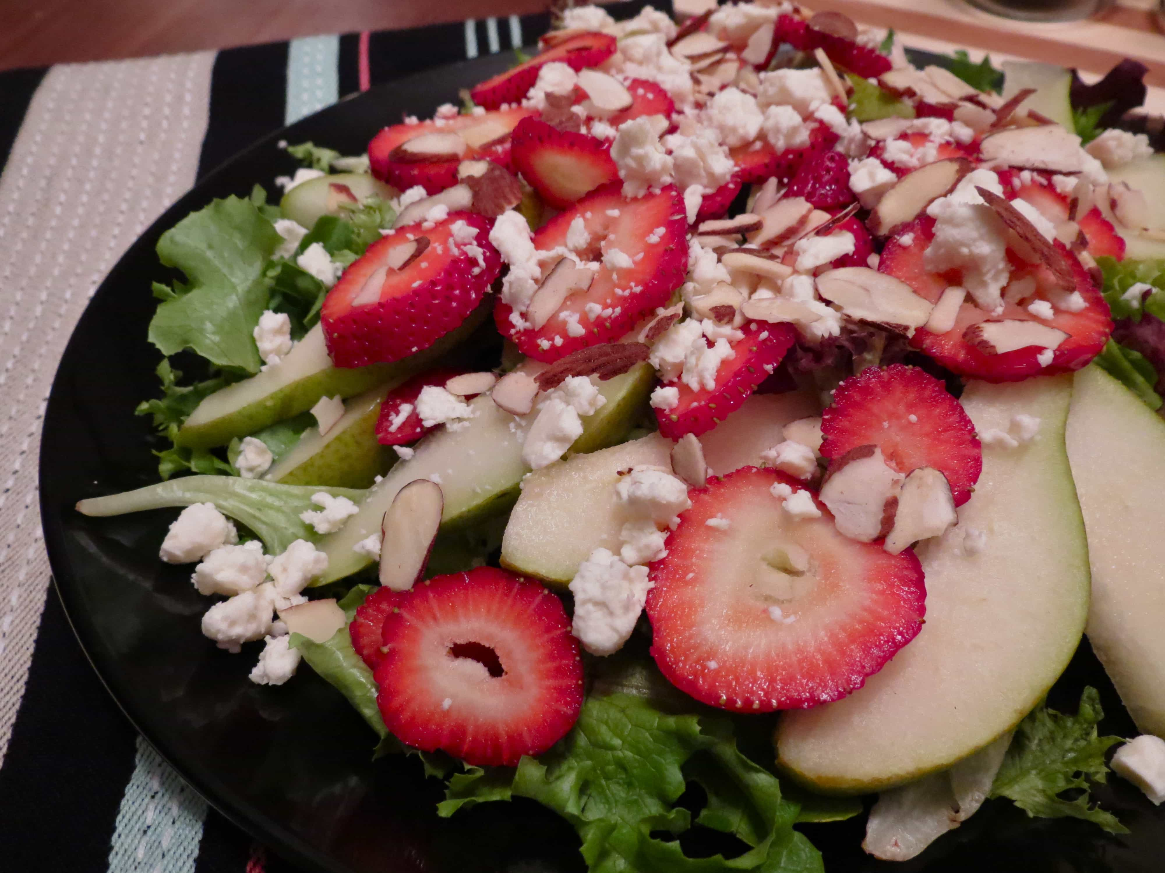 Strawberry, Pear and Feta Salad | Stephie Cooks