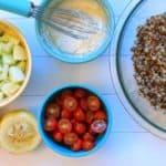 Lemony Tahini Quinoa Salad