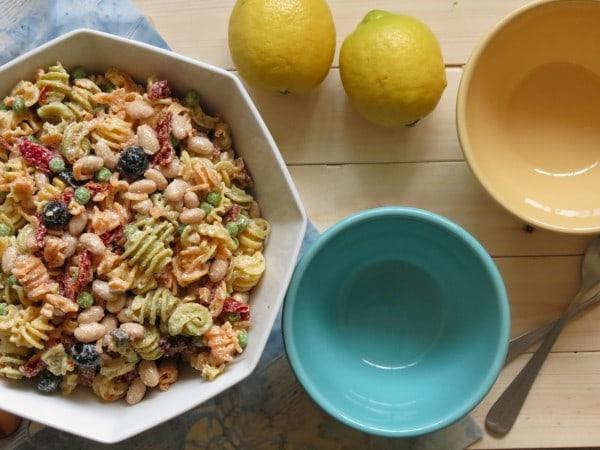Creamy Mediterranean Pasta Salad | Stephie Cooks