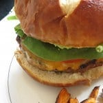 Barbeque Bacon Green Chili Burgers