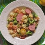 Mascarpone Pasta with Smoked Sausage and Broccoli