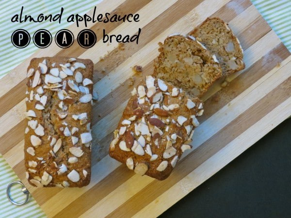 almond applesauce pear bread 1 e1347341533260 Almond Applesauce Pear Bread