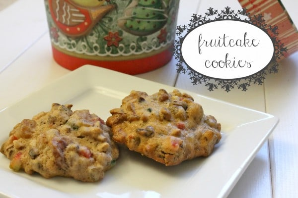 fruitcake cookies 1 e1354416958947 Treats for Santa: Fruitcake Cookies