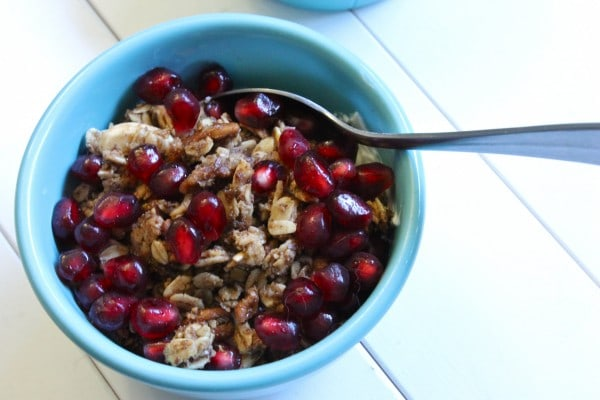 IMG 2797 e1357760202356 Maple Granola with Pomegranate and Honeyed Greek Yogurt