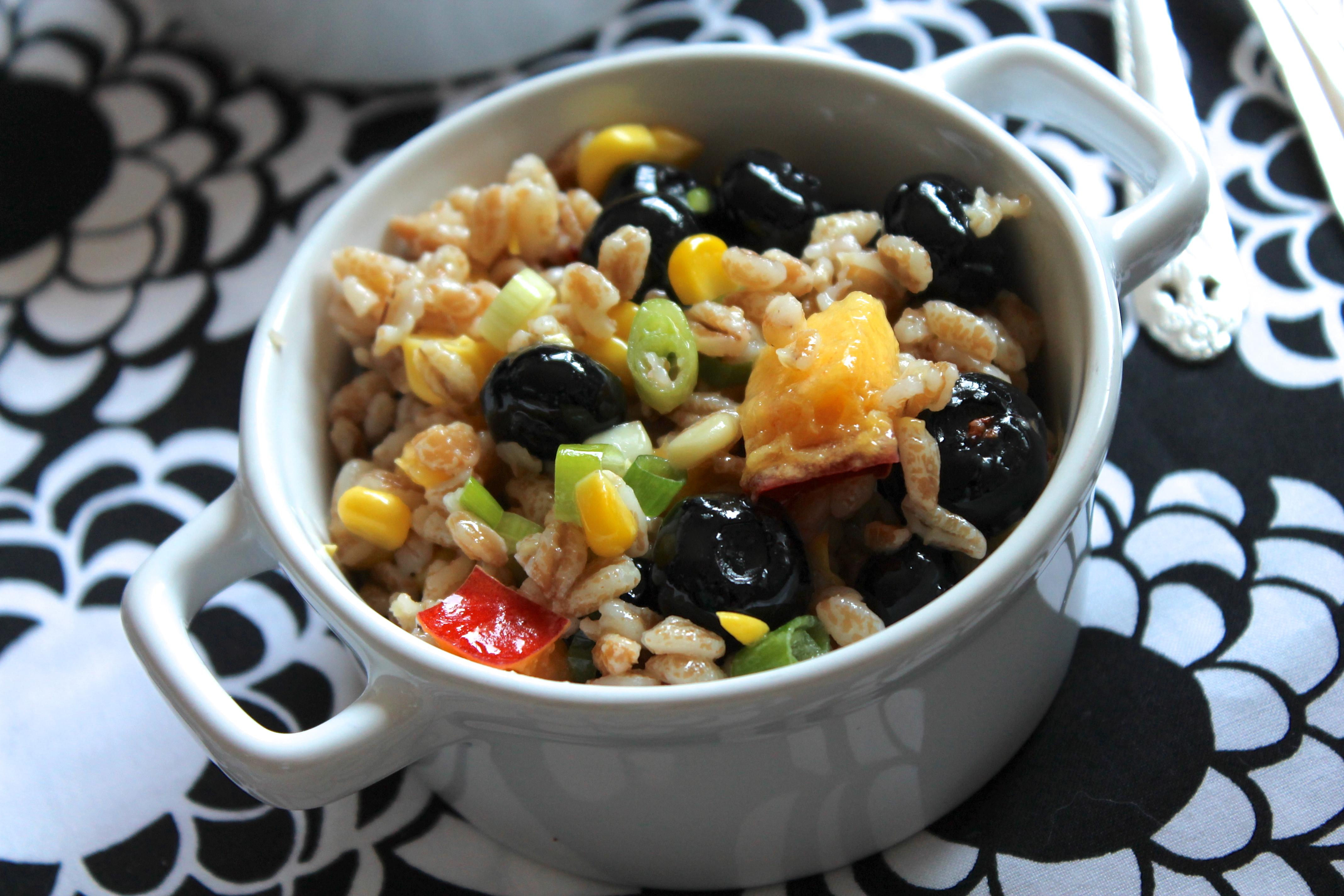Summer Farro Salad | Stephie Cooks