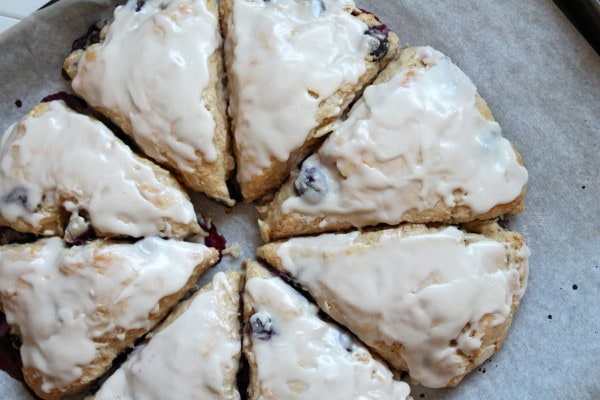 Blueberry-Lemon Yogurt Scones