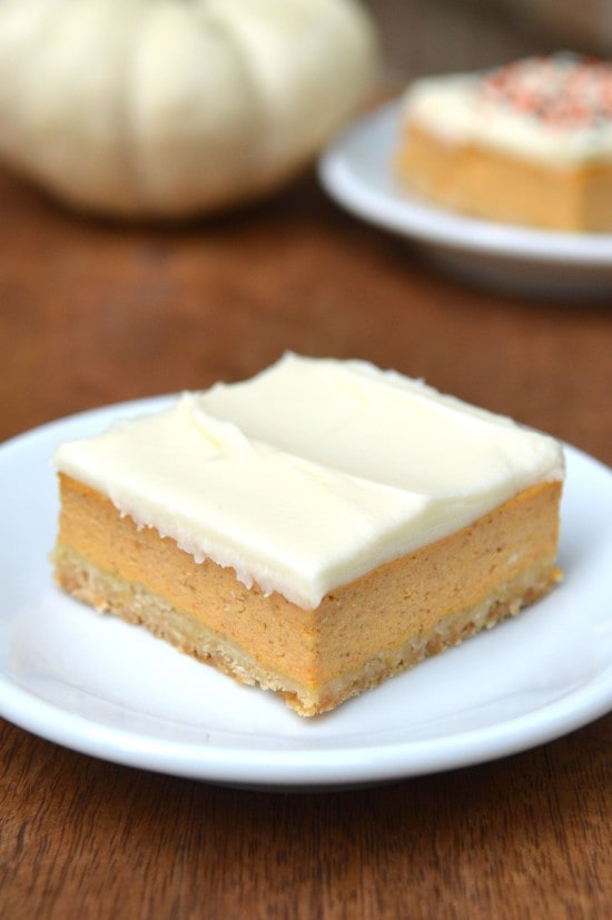 Friends First with Whipped} Pumpkin Cheesecake Bars