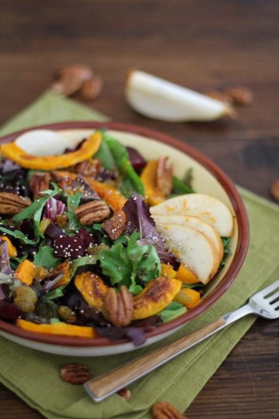roasted root - roasted veggie salad