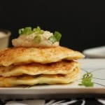 Savory Corn Cakes with Roasted Crema {+ cookbook giveaway!}
