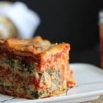 Slow Cooker Lasagna with Ground Pork & Spinach