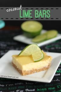 Coconut Lime Bars   Stephie Cooks