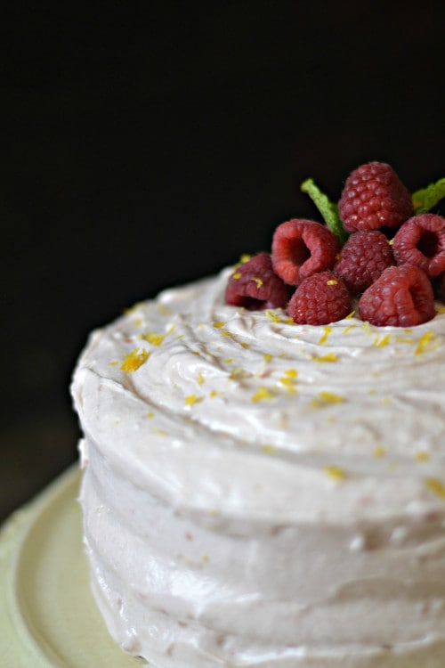 buttermilk cake with raspberry buttercream