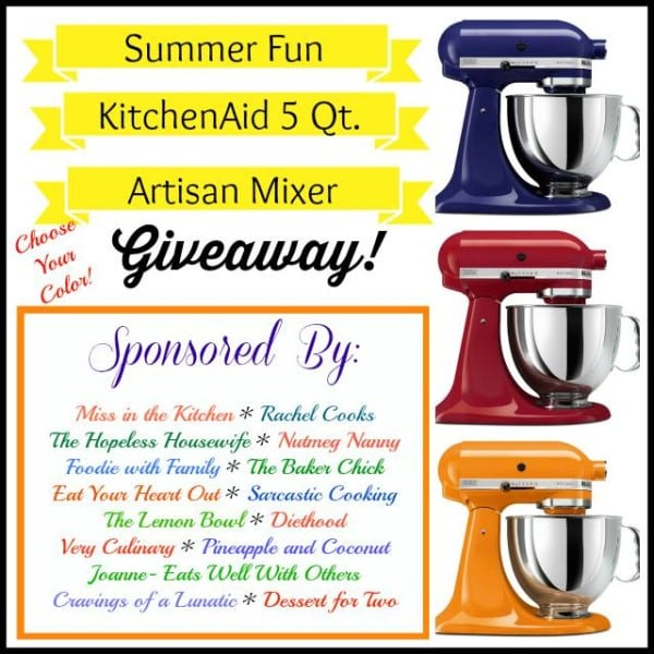 kitchenaid giveaway