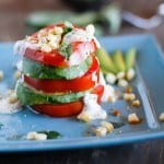 Tomato Stack Salad with Corn and Avocado