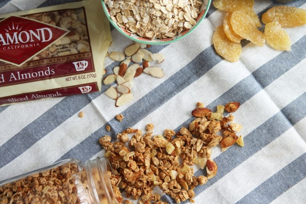 Coconut and Ginger Granola with Almonds